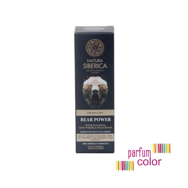 Natura Siberica, El Poder del Oso, Crema Facial Antiarrugas Super Intensiva 50 ml.