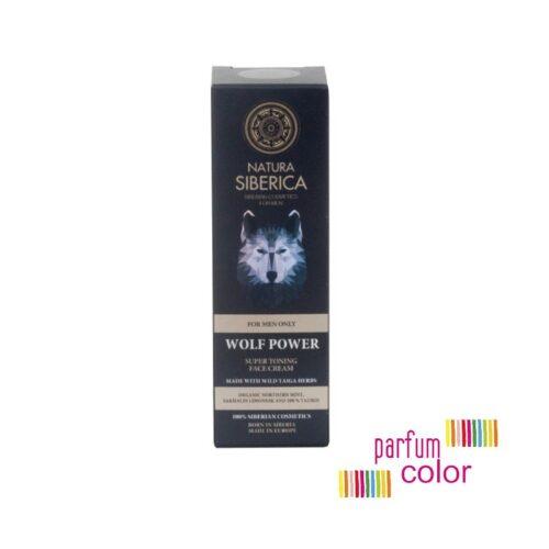 Natura Siberica, El Poder del Lobo Crema Facial Super Tonificante 50 ml.