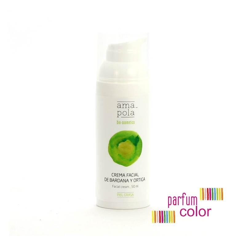 Amapola Bio·Cosmetics, Crema facial Bardana y Ortiga 50 ml.