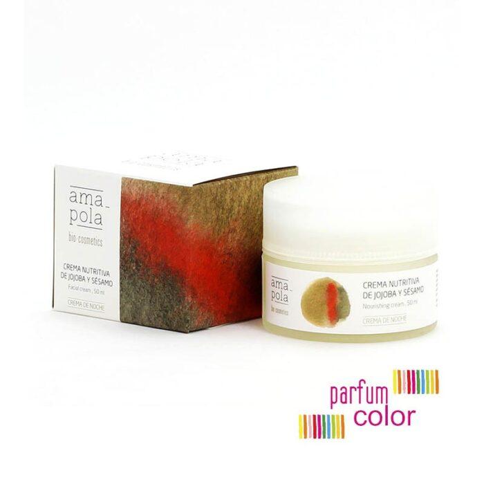 Amapola Bio·Cosmetics, Crema Nutritiva de Jojoba y Sésamo 50 ml.