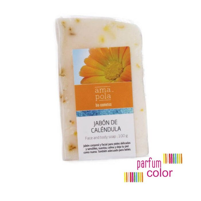 Amapola Bio·Cosmetics, Pastilla de Jabón de Caléndula 100 gr.